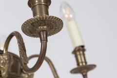 Diminutive English Rams Head Brass 5 arm Chandelier - 2052201