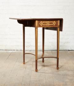Diminutive Inlaid Harewood Pembroke Table - 1984416
