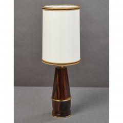 Diminutive Macassar Ebony Table Lamp France 1930s - 1989272