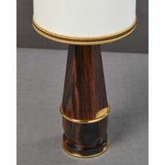 Diminutive Macassar Ebony Table Lamp France 1930s - 1989275