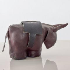 Dimitri Omersa Leather Donkey Mule Money Coin Bank style Dimitri Omersa made England - 1447673