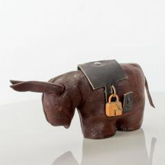 Dimitri Omersa Leather Donkey Mule Money Coin Bank style Dimitri Omersa made England - 1447676