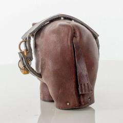Dimitri Omersa Leather Donkey Mule Money Coin Bank style Dimitri Omersa made England - 1447680