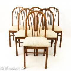 Dinaire Mid Century Walnut Dining Chairs Set of 6 - 1870207