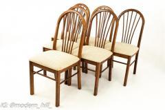 Dinaire Mid Century Walnut Dining Chairs Set of 6 - 1870208