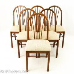 Dinaire Mid Century Walnut Dining Chairs Set of 6 - 1870209