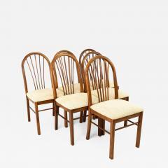 Dinaire Mid Century Walnut Dining Chairs Set of 6 - 1877941
