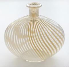 Dino Martens Murano 1950s Filigrana Art Glass Pillow Vase by Dino Martens for Aureliano Toso - 1617499