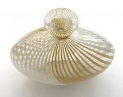 Dino Martens Murano 1950s Filigrana Art Glass Pillow Vase by Dino Martens for Aureliano Toso - 1617504