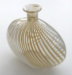 Dino Martens Murano 1950s Filigrana Art Glass Pillow Vase by Dino Martens for Aureliano Toso - 1617510