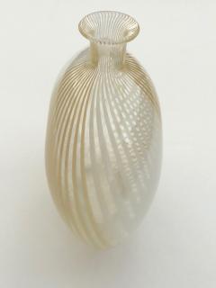 Dino Martens Murano 1950s Filigrana Art Glass Pillow Vase by Dino Martens for Aureliano Toso - 1617511