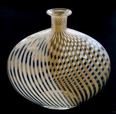 Dino Martens Murano 1950s Filigrana Art Glass Pillow Vase by Dino Martens for Aureliano Toso - 1617514