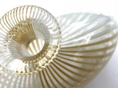 Dino Martens Murano 1950s Filigrana Art Glass Pillow Vase by Dino Martens for Aureliano Toso - 1617515