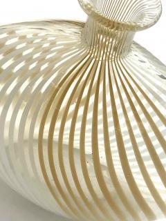 Dino Martens Murano 1950s Filigrana Art Glass Pillow Vase by Dino Martens for Aureliano Toso - 1617516