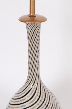 Dino Martens Tall Dino Martens Aureliano Toso Glass Table Lamp with Copper Swirl - 1583148