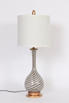 Dino Martens Tall Dino Martens Aureliano Toso Glass Table Lamp with Copper Swirl - 1583155