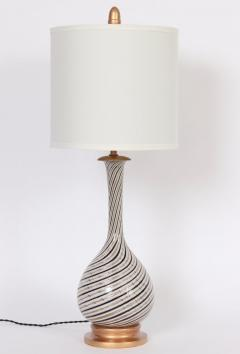 Dino Martens Tall Dino Martens Aureliano Toso Glass Table Lamp with Copper Swirl - 1583157