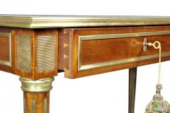 Directoire Style Mahogany and Brass Inlaid Writing Table - 1558268