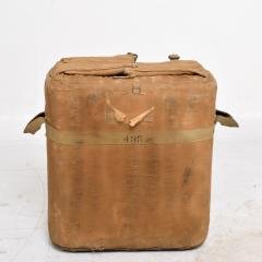 Distressed Vintage Army Military Surplus Ice Cooler Chest Tote USA 1940s - 1634196