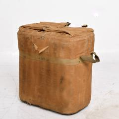 Distressed Vintage Army Military Surplus Ice Cooler Chest Tote USA 1940s - 1634198