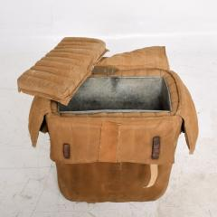 Distressed Vintage Army Military Surplus Ice Cooler Chest Tote USA 1940s - 1634201