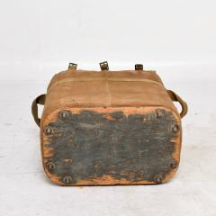 Distressed Vintage Army Military Surplus Ice Cooler Chest Tote USA 1940s - 1634205