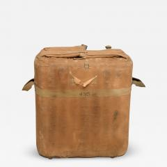 Distressed Vintage Army Military Surplus Ice Cooler Chest Tote USA 1940s - 1635239