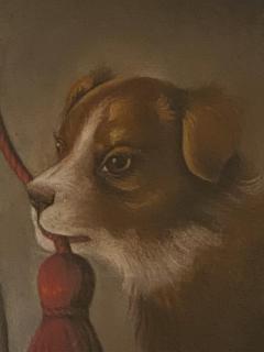Dog Oil Painting American Circa 19th Century - 1570763