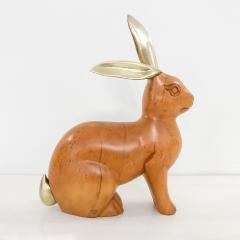 Dolbi Cashier Brass and Maple Rabbit by Dolbi Cashier circa 1987 - 1290474