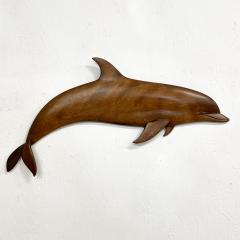 Dolphin Wood Wall Sculpture by Rob Roy Red Birch San Diego CA 6 94 - 1951250