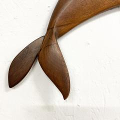 Dolphin Wood Wall Sculpture by Rob Roy Red Birch San Diego CA 6 94 - 1951251