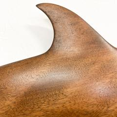 Dolphin Wood Wall Sculpture by Rob Roy Red Birch San Diego CA 6 94 - 1951254