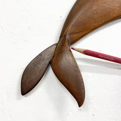 Dolphin Wood Wall Sculpture by Rob Roy Red Birch San Diego CA 6 94 - 1951255