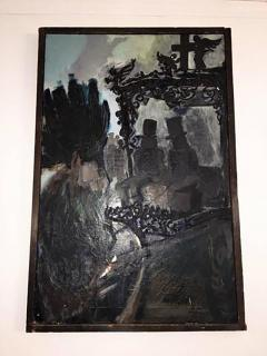 Domingo Barreres Signed Atmospheric Domingo Barreres Funeral Painting - 413493
