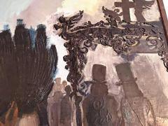 Domingo Barreres Signed Atmospheric Domingo Barreres Funeral Painting - 413495