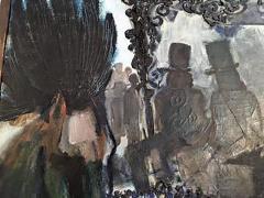 Domingo Barreres Signed Atmospheric Domingo Barreres Funeral Painting - 413496
