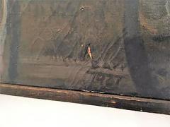 Domingo Barreres Signed Atmospheric Domingo Barreres Funeral Painting - 413497