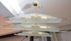 Dominici 1960s Chandelier with Three Glass Pieces on Brass Frame - 246239