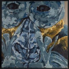Dominique Yee 21st C Expressionism Animal Painting Auzouxs Troglodytes Gorillas - 2024207