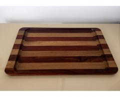 Don S Shoemaker A Wood Inlaid Tray by Don Shoemaker - 126273