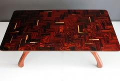 Don Shoemaker 1970s Don Shoemaker Tropical Wood Cuerno Coffe Table - 1410589