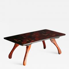 Don Shoemaker 1970s Don Shoemaker Tropical Wood Cuerno Coffe Table - 1411570