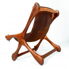Don Shoemaker Don S Shoemaker Vintage Aged Leather Lounge Sloucher Sling Chair Mexico - 1357350