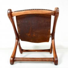 Don Shoemaker Don S Shoemaker Vintage Aged Leather Lounge Sloucher Sling Chair Mexico - 1357354