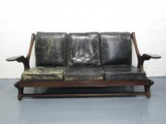 Don Shoemaker Don Shoemaker Leather Rosewood Sofa - 597183