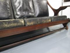 Don Shoemaker Don Shoemaker Leather Rosewood Sofa - 597185