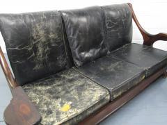 Don Shoemaker Don Shoemaker Leather Rosewood Sofa - 597187