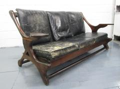 Don Shoemaker Don Shoemaker Leather Rosewood Sofa - 597189
