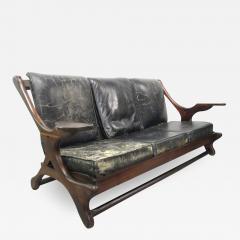 Don Shoemaker Don Shoemaker Leather Rosewood Sofa - 597548