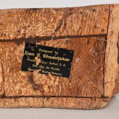 Don Shoemaker Don Shoemaker Organic Handsome Exotic Wood Stash Box Carved Cocobolo 1970s - 1836975